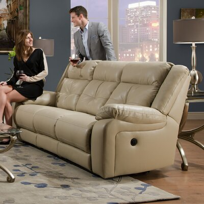 Simmons Upholstery UFI2806 Miracle Pearl Double Motion Sofa