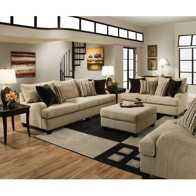 Simmons upholstery trinidad sofa modular sectional reviews wayfair for Living room furniture trinidad