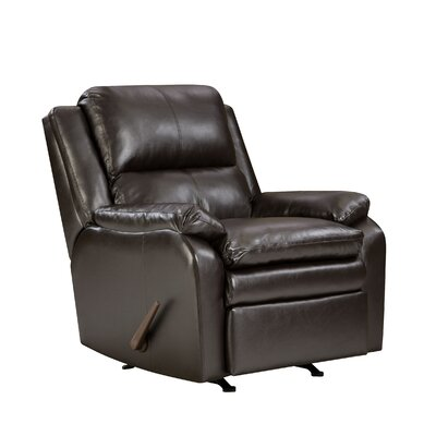 Soho Bonded Leather Rocker Recliner by Simmons Upholstery
