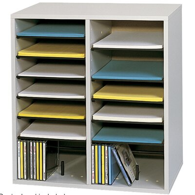 Safco Products Company Small Wood Adjustable-Compartment Literature Organizer