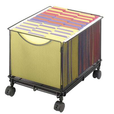 Safco Products Company Onyx Mesh Mobile File Cube