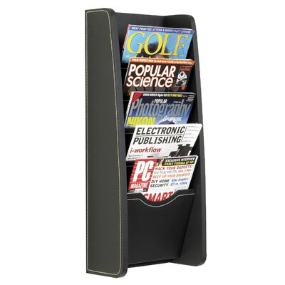 Safco Products Company 5 Pocket Leather Look Magazine Rack