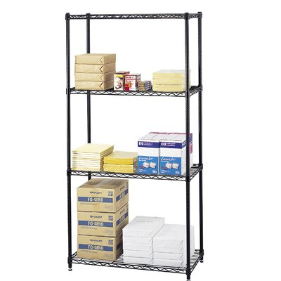 Safco Products Company Commercial 4 Shelf Shelving Unit Starter