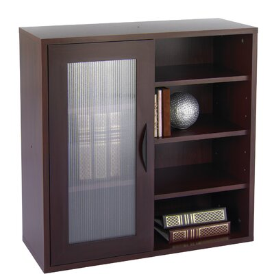 """Safco Products Company Apres Modular Storage Single Door/Open Shelve 29.75"""" Barrister Bookcase"""