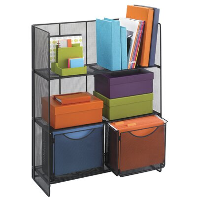 Safco Products Company Onyx Fold-Up 3 Shelf Shelving Unit