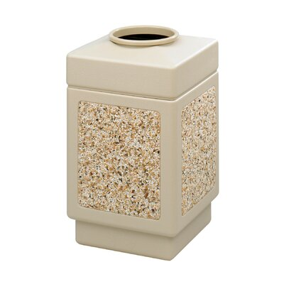 Safco Products Company Canmeleon 38-Gal Series Outdoor Aggregate Panel Open Top Receptacle