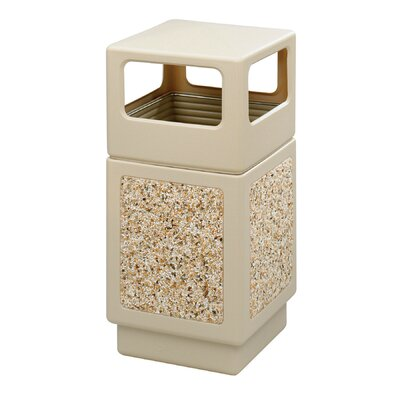 Safco Products Company Canmeleon 38-Gal Side-Open Square Receptacle