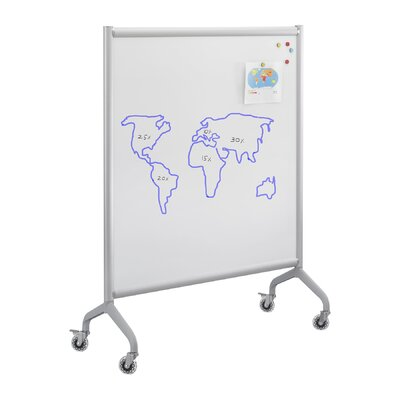 Safco Products Company Rumba Screen Mobile Magnetic Free Standing Whiteboard
