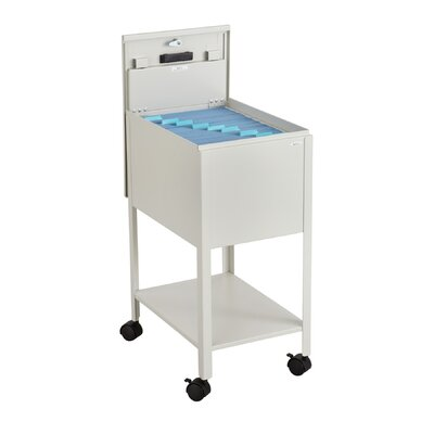 Safco Products Company Standard Mobile Letter Size Tub File Cart with Lock