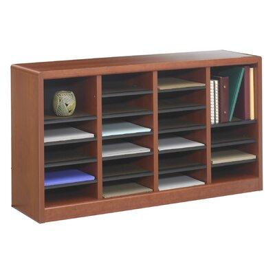 """Safco Products Company E-Z Store Wood 23"""" Literature Organizer"""