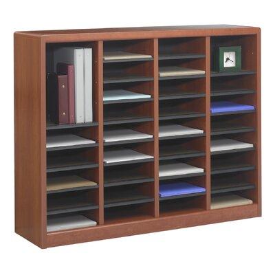"""Safco Products Company E-Z Store Wood 32 1/2"""" Literature Organizer"""