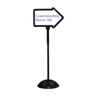 Safco Products Company Dry Erase Magnetic Plastic Double-Sided Arrow Sign