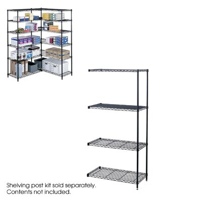 """Safco Products Company Industrial Wire Add-On Unit (36"""" x 18"""" Shelves)"""