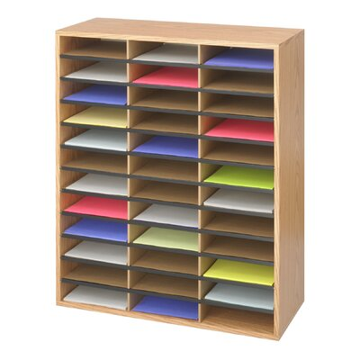 Safco Products Company Large Wood/Corrugated Literature Organizer