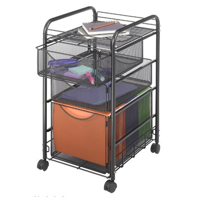 Safco Products Company Mesh Mobile File Cart