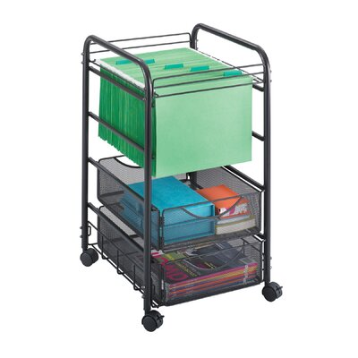 Safco Products Company Onyx Mesh File Cart