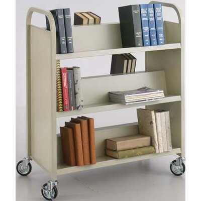 Safco Products Company Double-Sided Book Cart