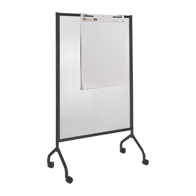 Safco Products Company Impromptu Full Collaboration Screen Mobile Free Standing Whiteboard, 6' x4'