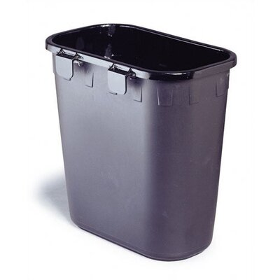 Safco Products Company Paper Pitch Rectangular 1.75 Gallon Recycling Waste Basket