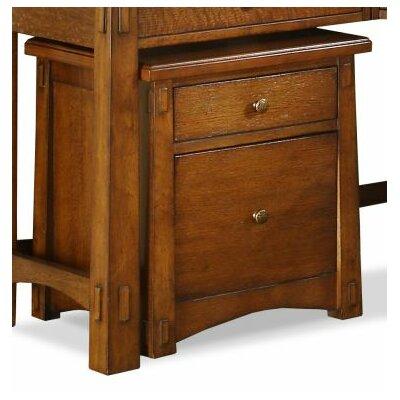 Riverside Furniture Craftsman Home 2-Drawer Mobile File Cabinet