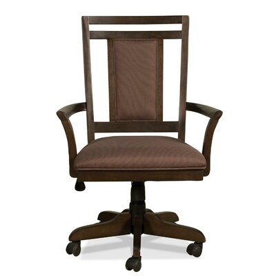 Promenade Mid-Back Desk Chair with Arms by Riverside Furniture