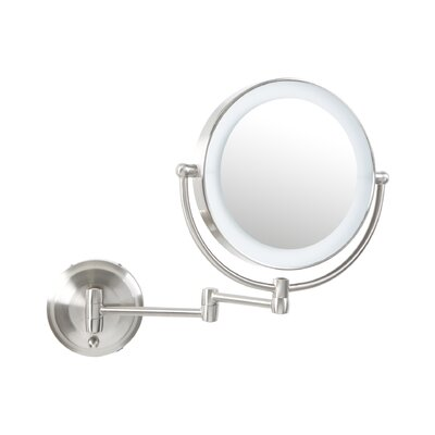 Round Mirror with LED Surround Light by Alcott Hill
