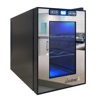 6 Bottle Single Zone Freestanding Wine Refrigerator by Vinotemp