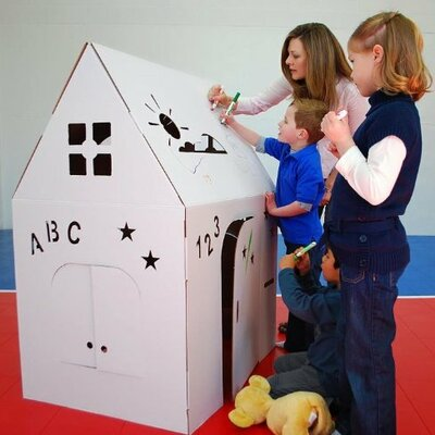 Cardboard Playhouse Product Photo