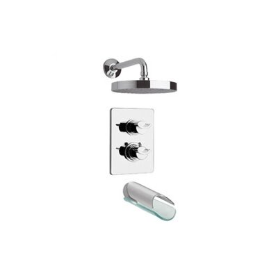 Morgana Thermostatic Two Handle Tub and Shower Faucet Set Product Photo