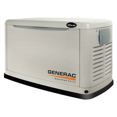 Guardian 11 Kw Air-Cooled Single Phase 120/240 V Natural Gas Propane Standby Generator in Steel ...