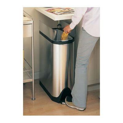 Simplehuman Butterfly Step Trash Can In Stainless Steel