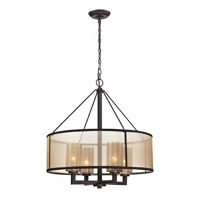 Diffusion 4 Light Drum Chandelier by Elk Lighting