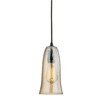 Hammered Glass 1 Light Mini Pendant Product Photo