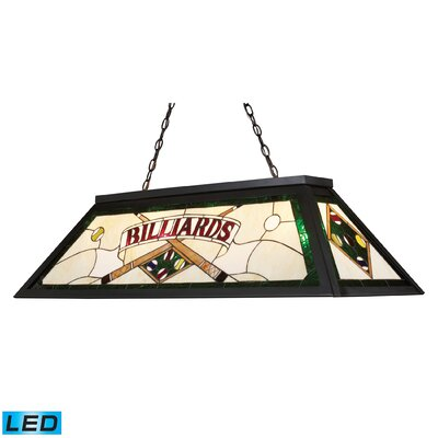 Tiffany Lighting/Billiard/Island 4 Light Pool Table Light by Elk Lighting