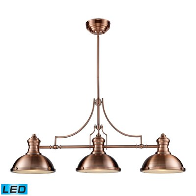 Chadwick 3 Light Pool Table Light by Elk Lighting