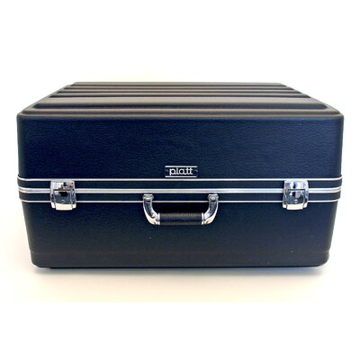 Platt Heavy-Duty Polyethylene Case with Wheels and Telescoping Handle in Black: 17.75 x 23.75 x 11
