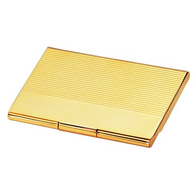 Gold Business Card Case by Chass