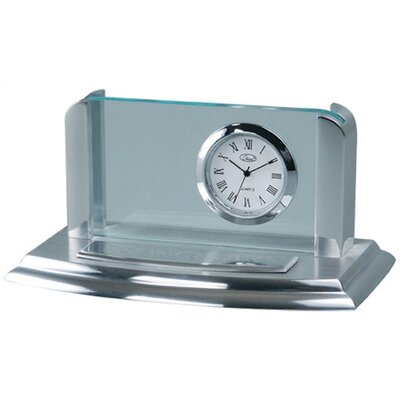 Business Card Holder Desk Clock by Chass