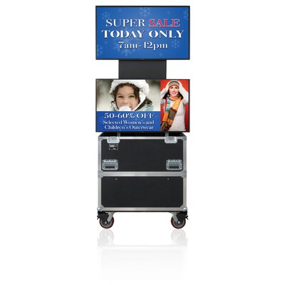 """Jelco Rotolift Dual Lift Case for Two 46"""" - 52"""" Flat Screens"""
