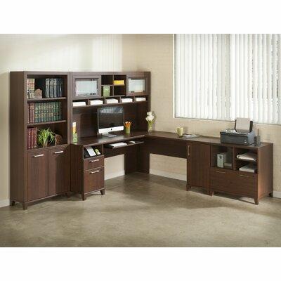 Bush Furniture Achieve 4-Piece L-Shape Desk Office Suite