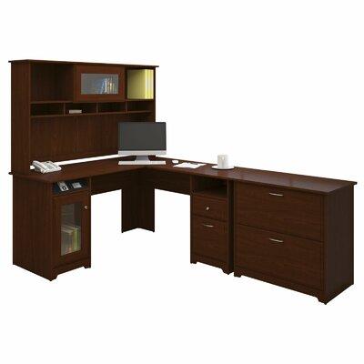 Bush Furniture Cabot 3 Piece L-Shape Executive Desk Office Suite