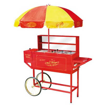 Vintage Carnival Hot Dog Cart with Umbrella by Nostalgia Electrics