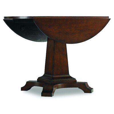 Hooker furniture abbott place round drop leaf pad dining for Round drop leaf dining table