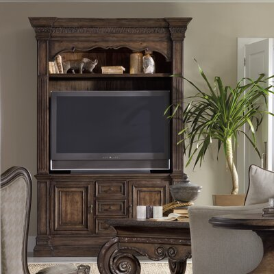 Rhapsody TV Stand with Hutch by Hooker Furniture