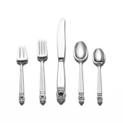 International Silver Sterling Silver Royal Danish 46 Piece Dinner Flatware Set