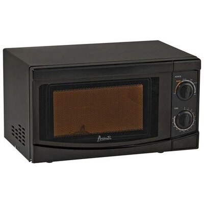 0.7 Cu. Ft. 700W Countertop Microwave in Black Product Photo