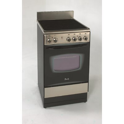 1.9 Cu. Ft Electric Range in Black Product Photo