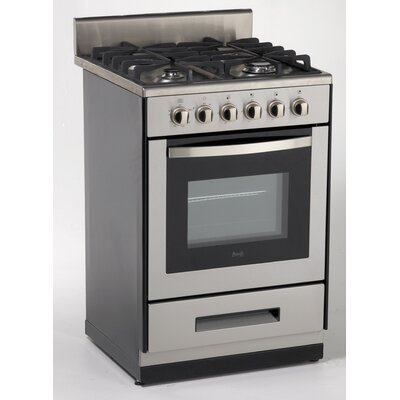 Gas Range in Stainless Steel Product Photo