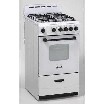 Gas Range in White Product Photo