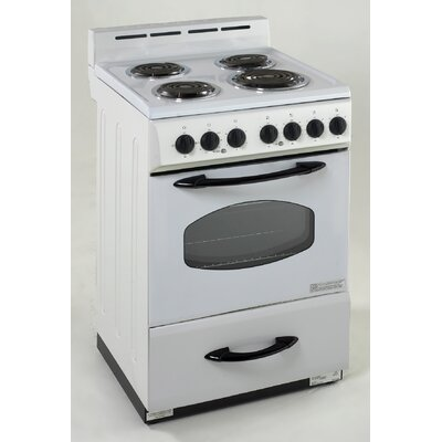 2.4 Cu. Ft Electric Range in White Product Photo